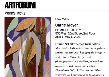 "Artforum Critic's Pick: Carrie Moyer, ""Analog Time"""